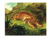 Tiger and Snake, 1858 Fine-Art Print