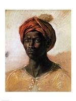 Portrait of a Turk in a Turban, c.1826 Fine-Art Print