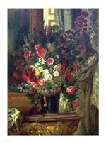 Vase of Flowers on a Console Fine-Art Print