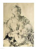 Virgin Mary suckling the Christ Child Fine-Art Print