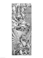 The Triumphal Arch of Emperor Maximilian I: detail of pillar Fine-Art Print