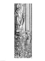 The Triumphal Arch of Emperor Maximilian I of Germany: Detail of column Fine-Art Print