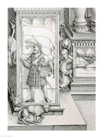 The Triumphal Arch of Emperor Maximilian I of Germany: Detail of column drawing Fine-Art Print