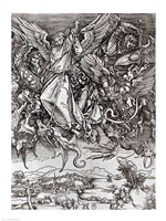 St. Michael and the Dragon, from a Latin edition, 1511 Fine-Art Print