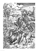 Samson slaying the lion Fine-Art Print