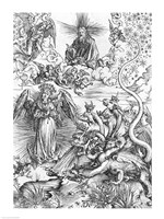 Scene from the Apocalypse, The woman clothed with the sun and the seven-headed dragon Fine-Art Print