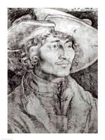 Portrait of an unknown man, 1521 Fine-Art Print