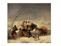 The Snowstorm, 1786-87 Fine-Art Print