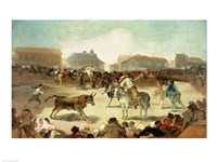 A Village Bullfight Fine-Art Print