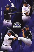 Rockies - Collage 11 Wall Poster