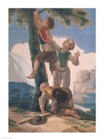 Boys Climbing a Tree Fine-Art Print