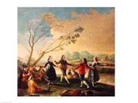 Dance on the Banks of the River Manzanares, 1777 Fine-Art Print