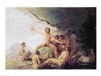 Cannibals Savouring Human Remains Fine-Art Print