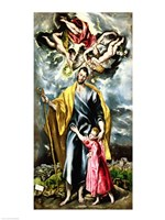 St. Joseph and the Christ Child Fine-Art Print
