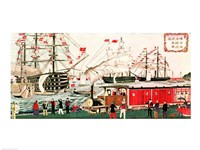 Commodore Perry's Gift of a Railway to the Japanese in 1853 Fine-Art Print