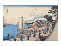 Shinagawa: departure of a Daimyo Fine-Art Print