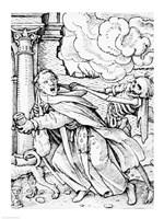 Death and the Mendicant Friar Fine-Art Print