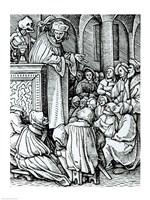 Death and the Preacher Fine-Art Print