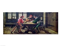 A School Teacher Explaining the Meaning of a Letter to Illiterate Workers, 1516 Fine-Art Print