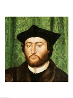 The Ambassadors, 1533, Right Portrait Detail Fine-Art Print