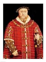 Portrait of Henry VIII D Fine-Art Print
