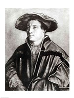 Portrait of a man with a red hat, c.1530 Fine-Art Print