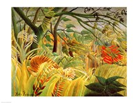 Tiger in a Tropical Storm Fine-Art Print