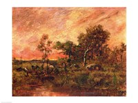 Wooded Landscape with a Faggot Gatherer Fine-Art Print