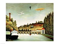 View of the Bridge at Sevres and the Hills at Clamart Fine-Art Print