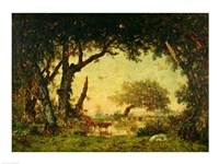 The Edge of the Forest at Fontainebleau Fine-Art Print