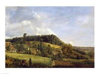 Forest Glade near a Village, 1833 Fine-Art Print