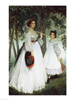 The Two Sisters: Portrait, 1863 Fine-Art Print