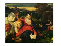 Madonna and Child with St. Catherine Fine-Art Print