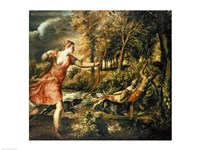 The Death of Actaeon Fine-Art Print