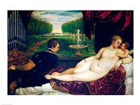 Venus with an Organist and Cupid Fine-Art Print