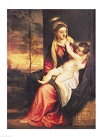 Virgin with Child at Sunset, 1560 Fine-Art Print