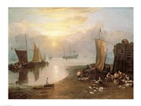 Sun Rising Through Vapour: Fishermen Cleaning and Selling Fish, c.1807 Fine-Art Print