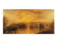 The Lake, Petworth: Sunset, a Stag Drinking Fine-Art Print
