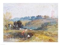 Landscape near Petworth, c.1828 Fine-Art Print