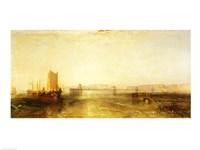 Brighton from the Sea, c.1829 Fine-Art Print