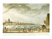 Lord Nelson's funeral procession Fine-Art Print