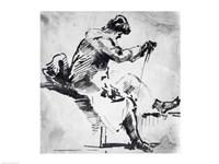 Seated man Fine-Art Print