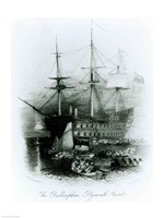 The Bellerophon at Plymouth Sound in 1815 Fine-Art Print