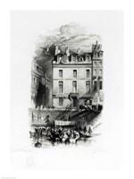 Napoleon's Lodgings on the Quai Conti Fine-Art Print