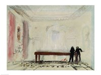 Billiard players at Petworth House, 1830 Fine-Art Print