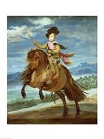 Prince Balthasar Carlos on horseback Fine-Art Print