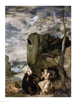 St. Anthony the Abbot and St. Paul the First Hermit, c.1642 Fine-Art Print