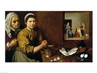 Kitchen Scene with Christ in the House of Martha and Mary Fine-Art Print