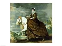 Equestrian portrait of Elisabeth de France Fine-Art Print