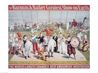Poster advertising the Barnum and Bailey Greatest Show on Earth Fine-Art Print